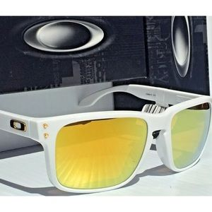 20459456cd Oakley Accessories - Oakley Holbrook Sunglasses White 24K Gold Iridium